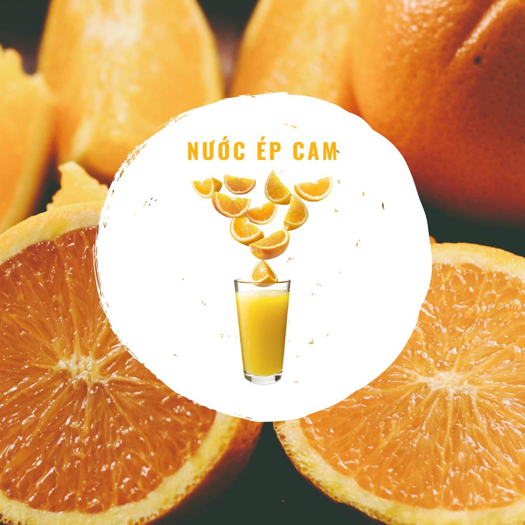 Nước ép cam giàu vitamin C