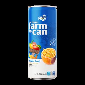 Nước ép trái cây hỗn hợp đóng lon 250ml