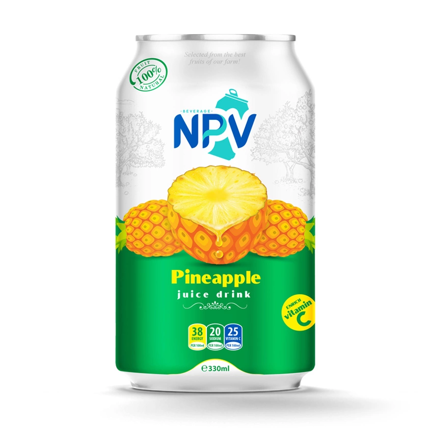 NPV Pineapple Juice Drink 330ml Canned